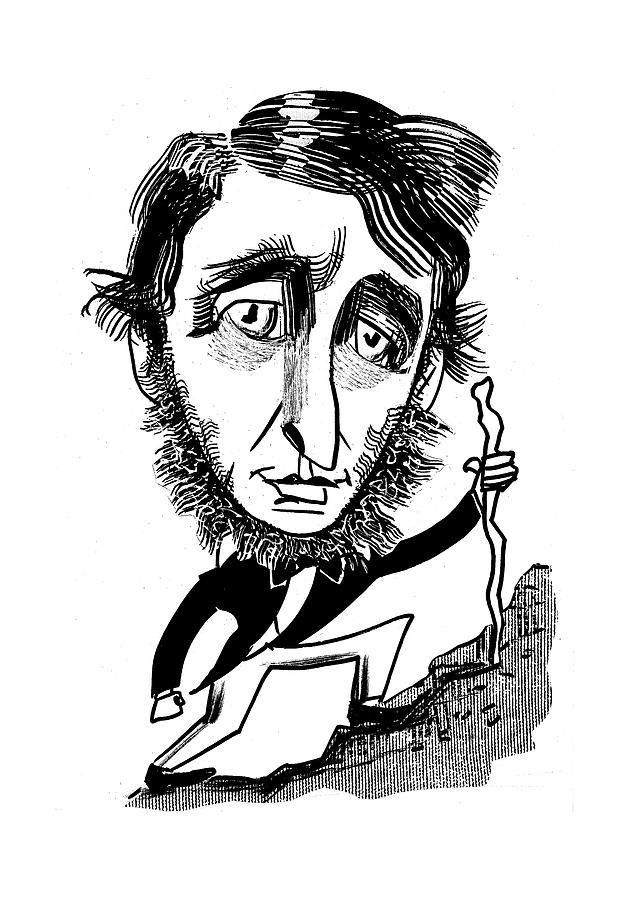 629x900 Henry David Thoreau By Tom Bachtell