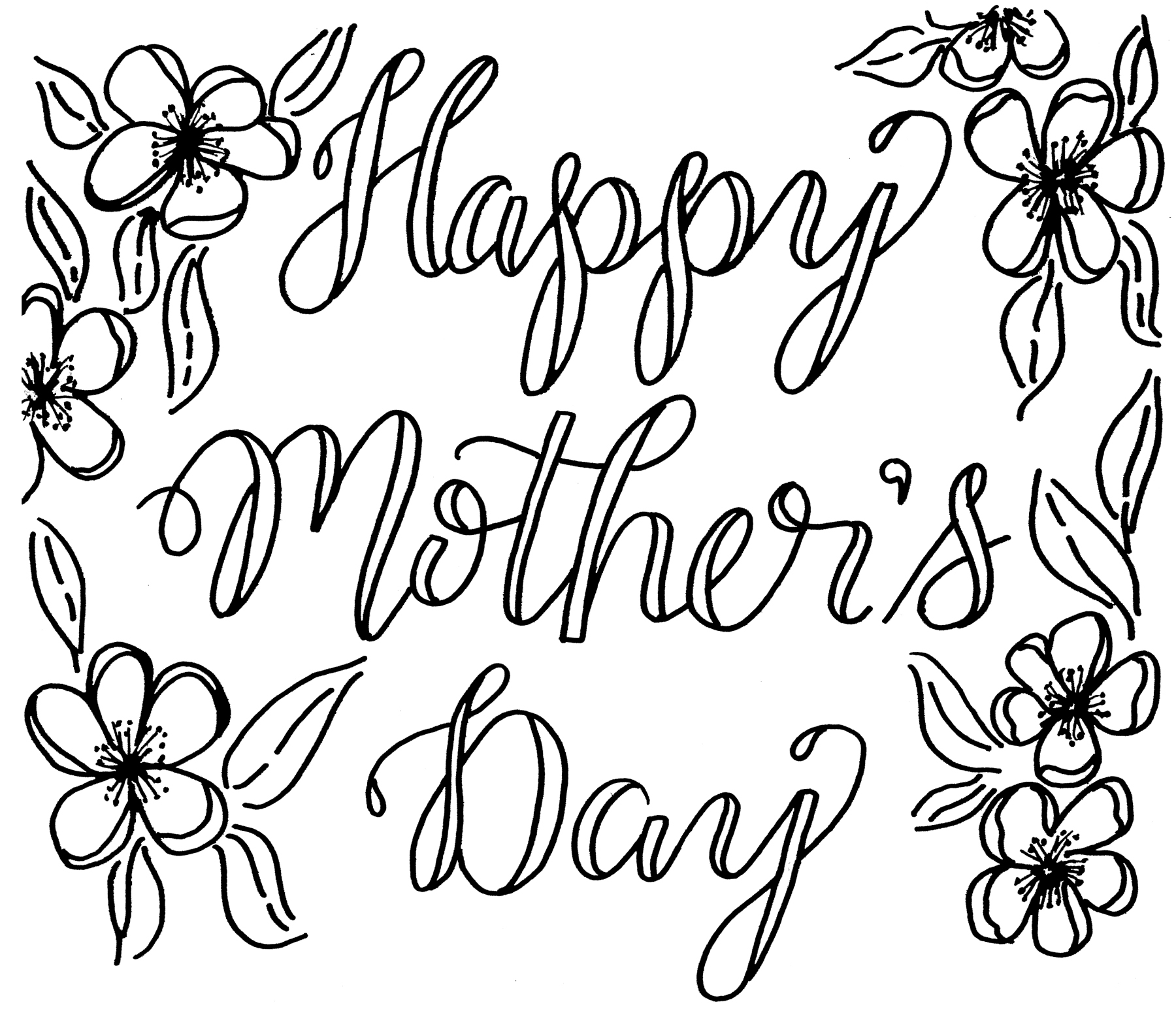 1800x1554 Easy^ Mothers Day Drawings Ideas, Pictures For Cards Mothers Day