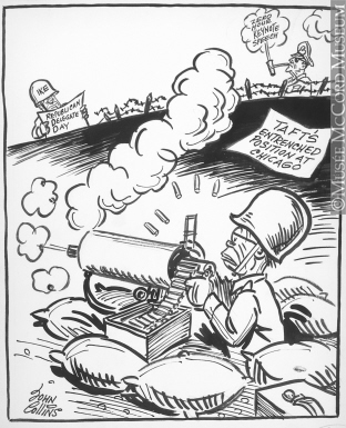 312x385 M965.199.1313 Another D Day. Drawing, Cartoon John Collins