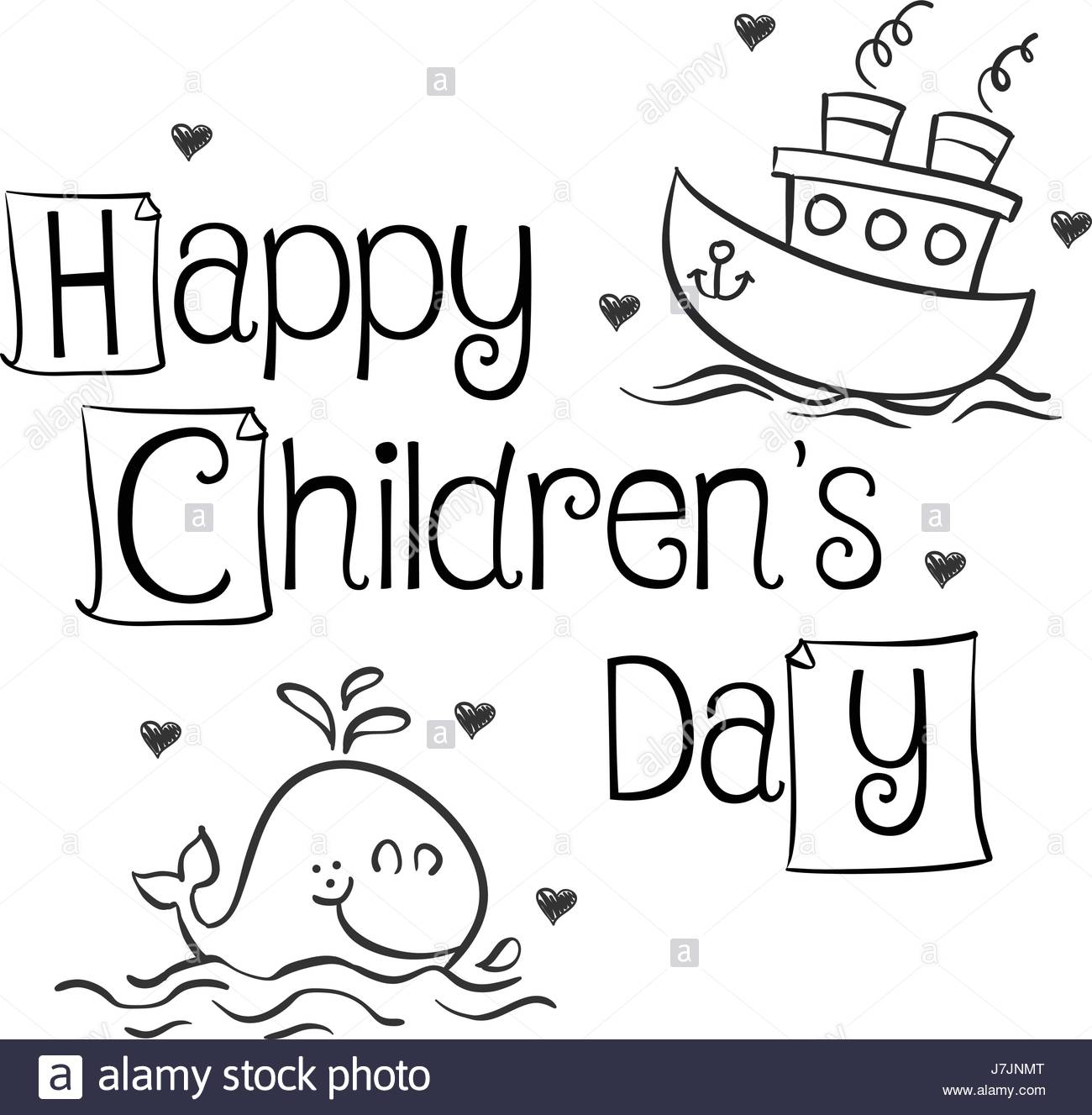 1300x1327 Collection Style Children Day Hand Draw Stock Vector Art