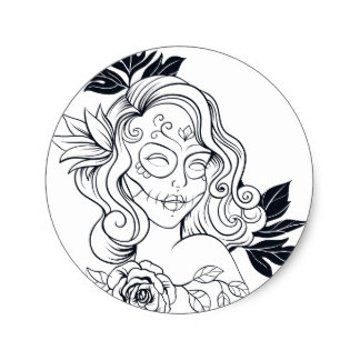 324x324 Day Of The Dead Girl Stickers Zazzle