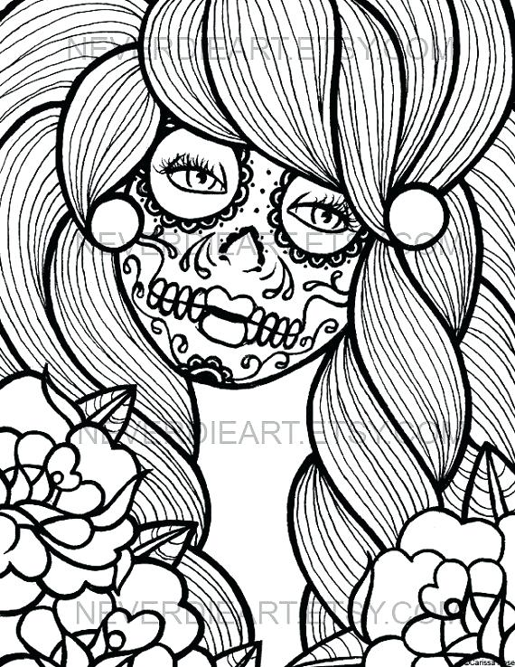 570x738 Sugar Skull Coloring Book And Images About Skull Day Of The Dead