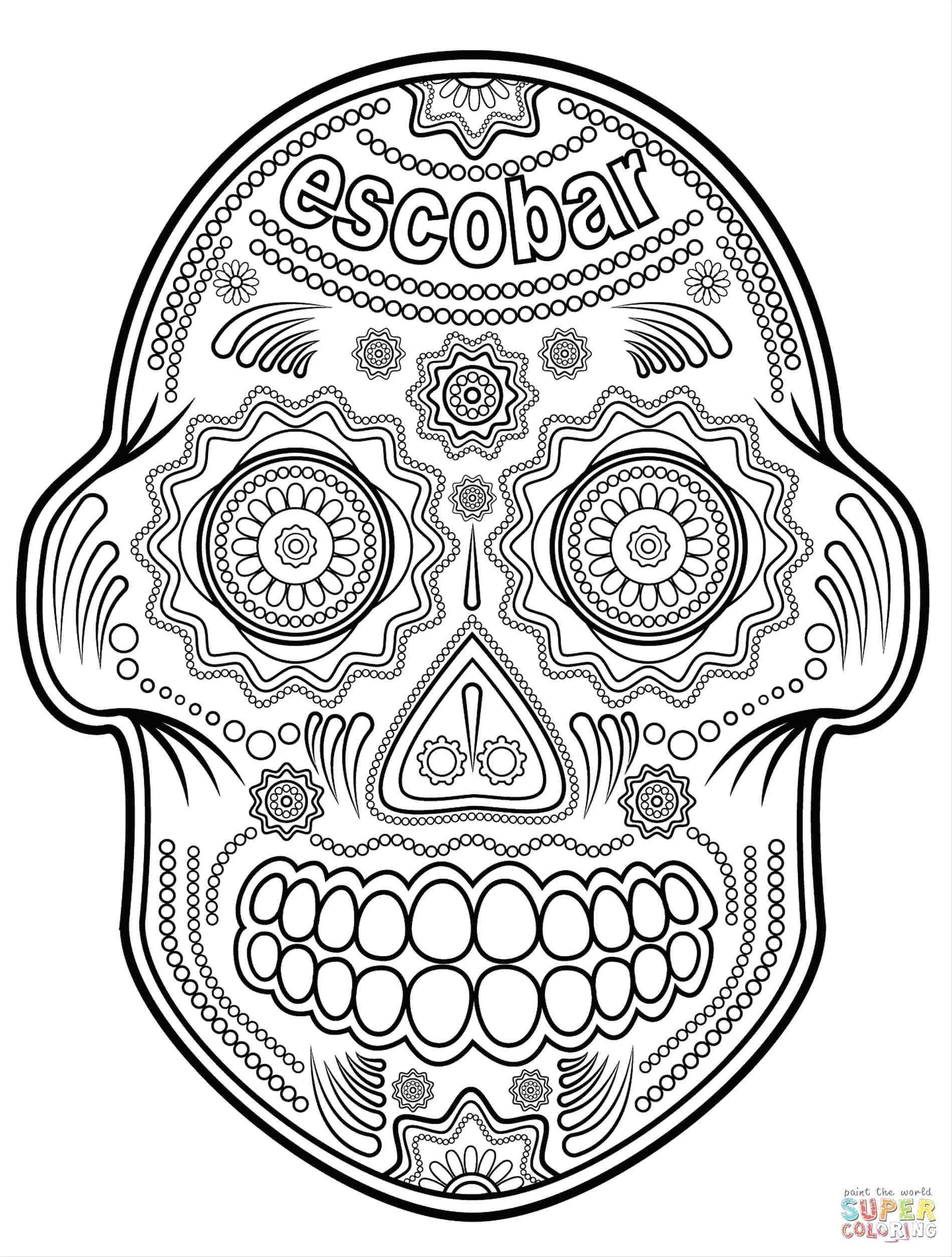 1899x2506 Coloring Day Of The Dead Skulls Coloring Pages