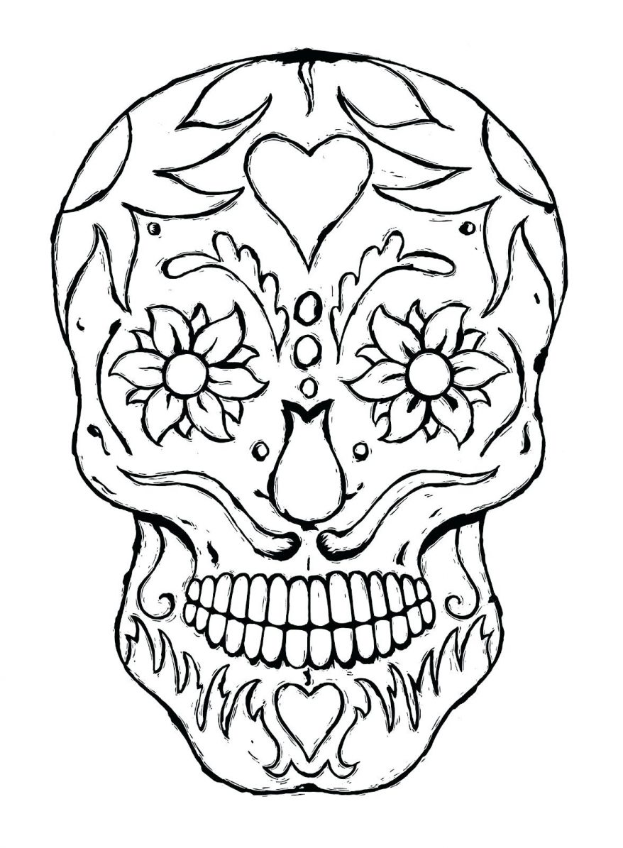 878x1195 Day Of The Dead Skulls Coloring Pages A 91 Extraordinary Color