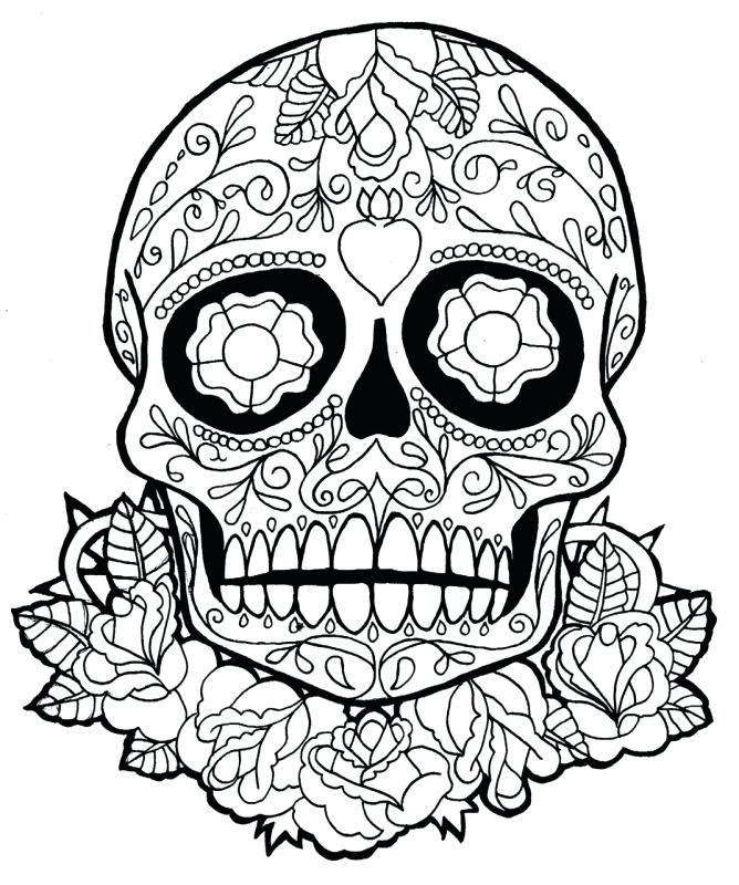 668x800 Dia De Los Muertos Coloring Pages As Well As Background Coloring