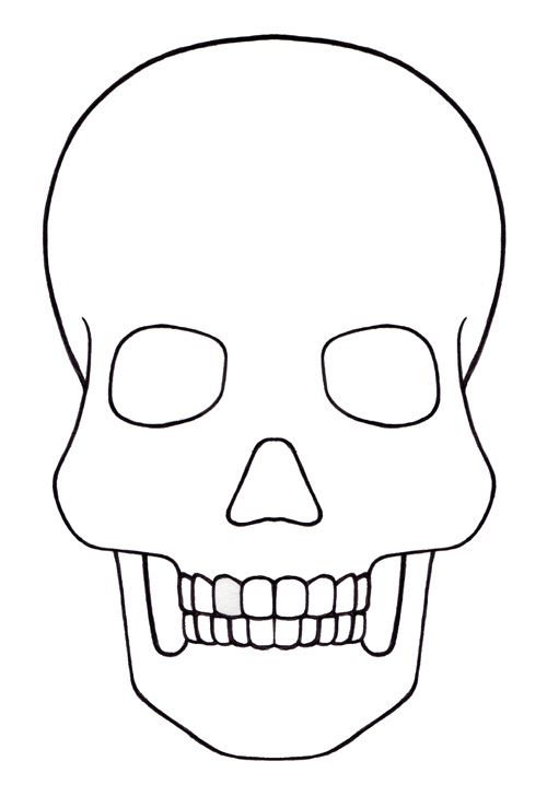 500x739 Drawn Sugar Skull Blank