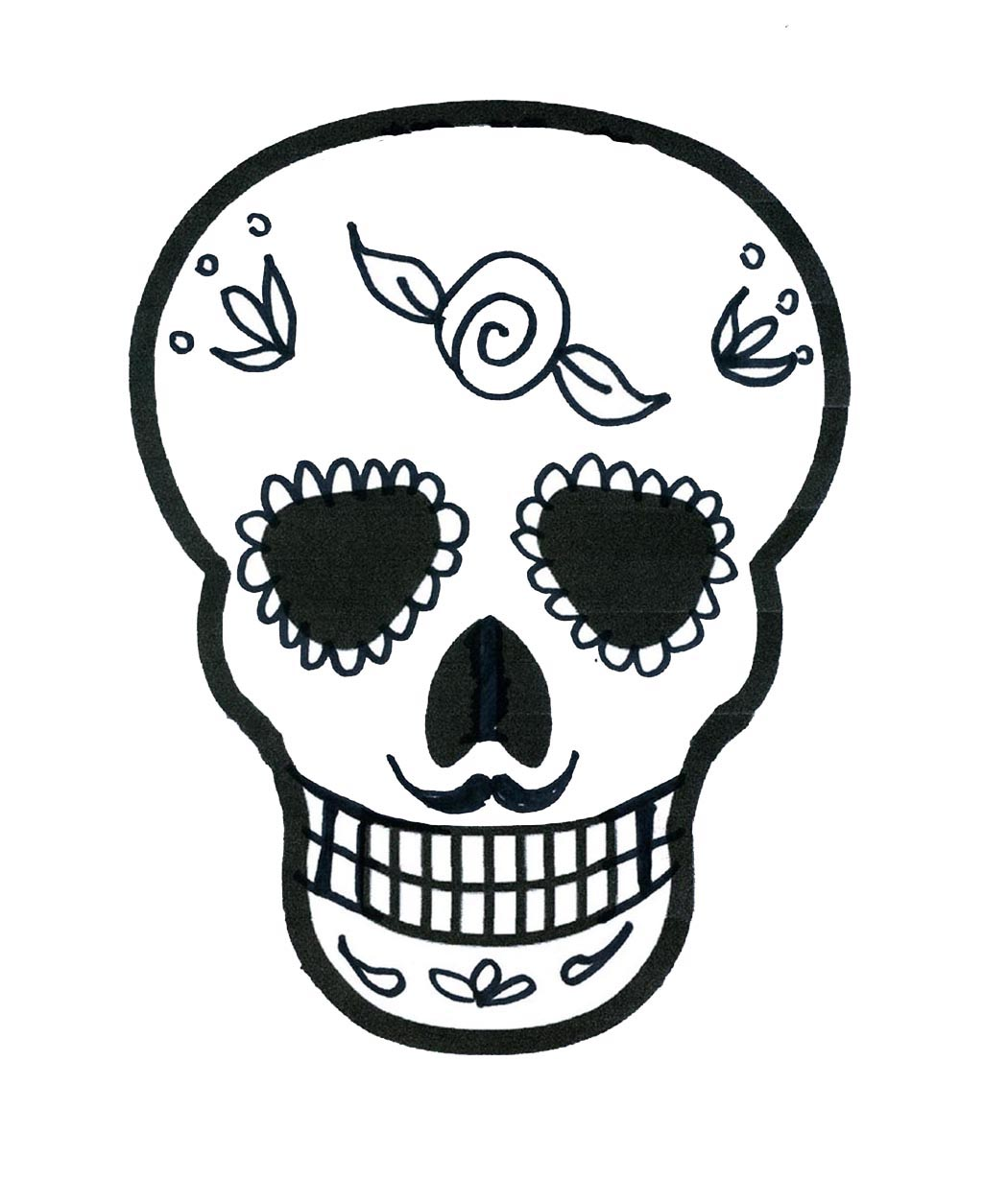 1050x1254 Drawn Sugar Skull Small Sugar