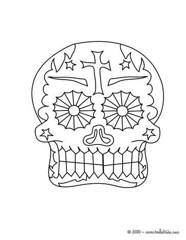 364x470 Mexican Day Of The Dead Coloring Pages