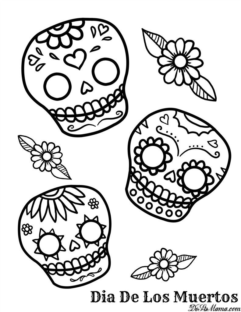 791x1024 Mexican Day Of The Dead