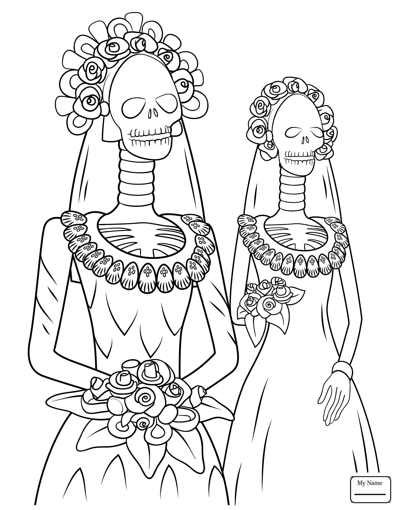 1557x2000 Coloring Pages Dia De Los Muertos Sugar Skull Holidays Day