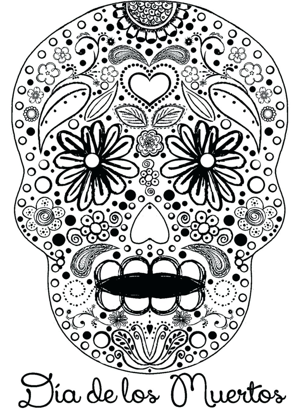 Day Of The Dead Skeleton Drawing at GetDrawings.com | Free ...