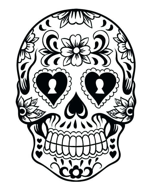 600x750 Coloring Pages Sugar Skulls Sugar Skull Coloring Pages Free