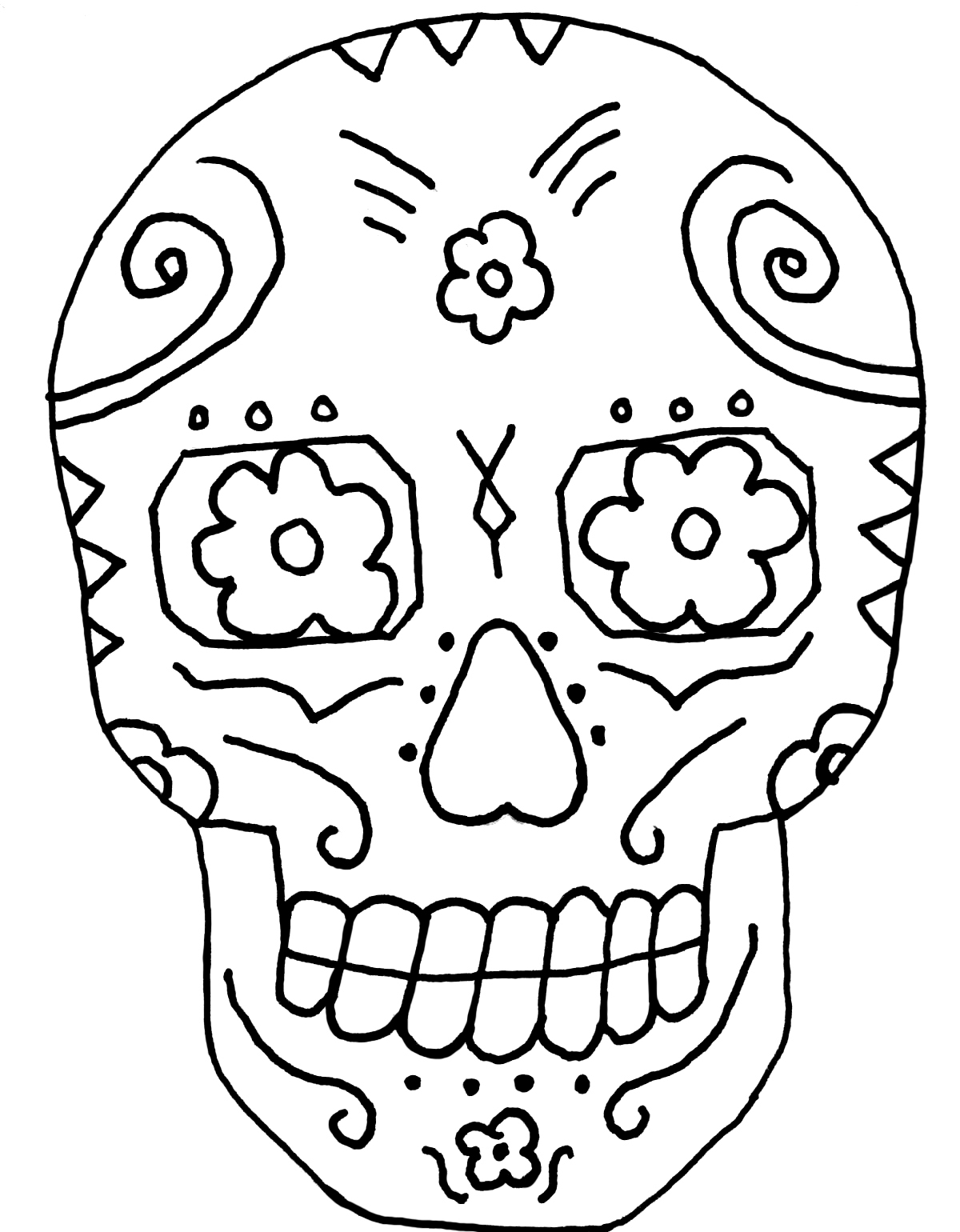 1200x1540 Diy Day Of The Dead Faces