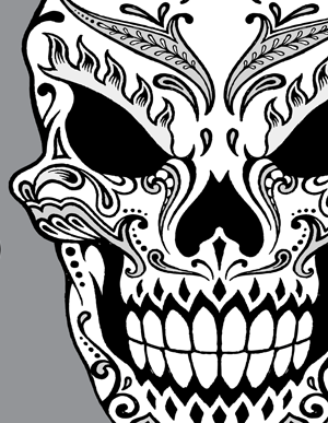 300x387 Day Of The Dead Skull Clipart Our Second Hand Drawn Day Eclectic
