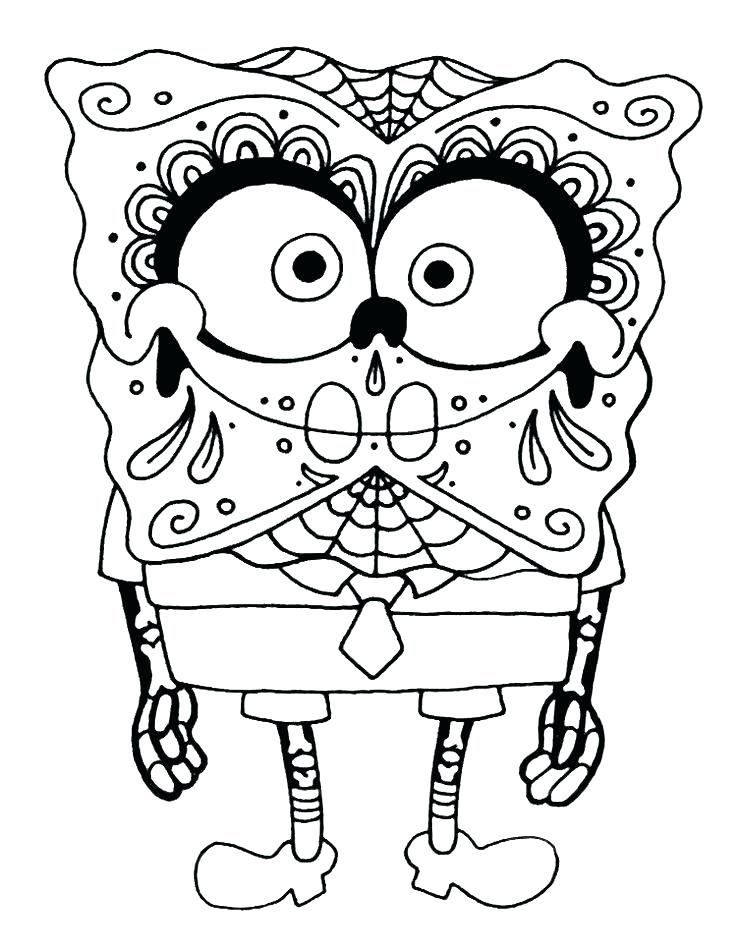 736x948 Day Dead Skull Coloring Pages Print Sugar Skull Day