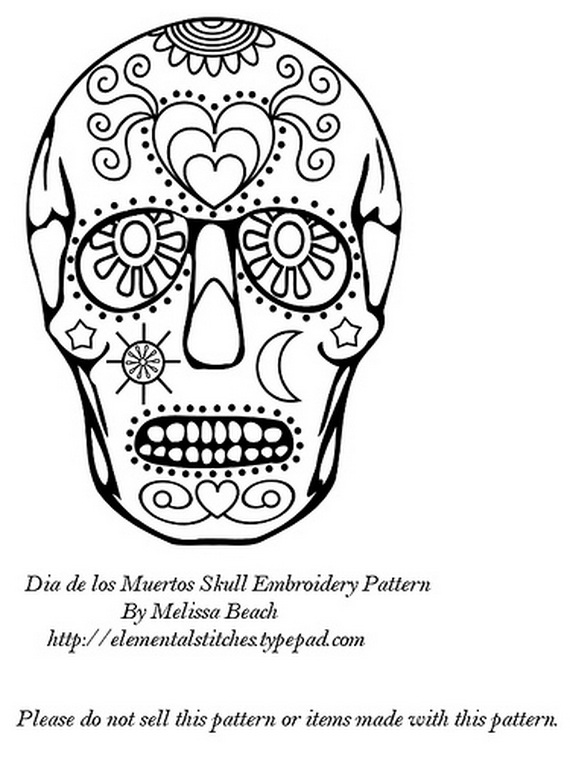 570x760 Day Of The Dead Coloring And Craft Activities