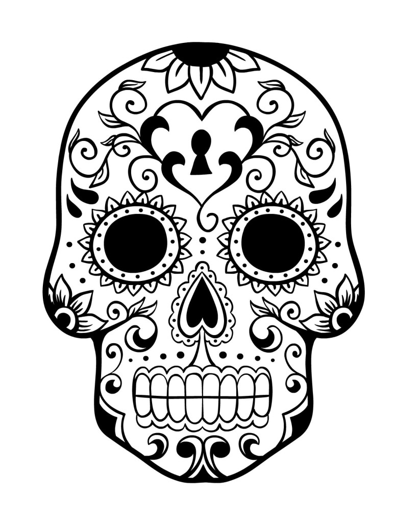821x1024 Day Of The Dead History And Free Sugar Skulls Coloring Pages