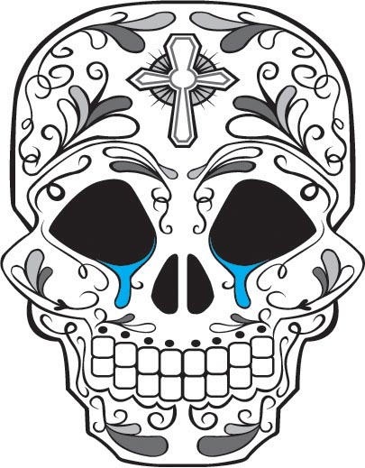 405x519 Day Of The Dead Skull Crying By Mattdmofo