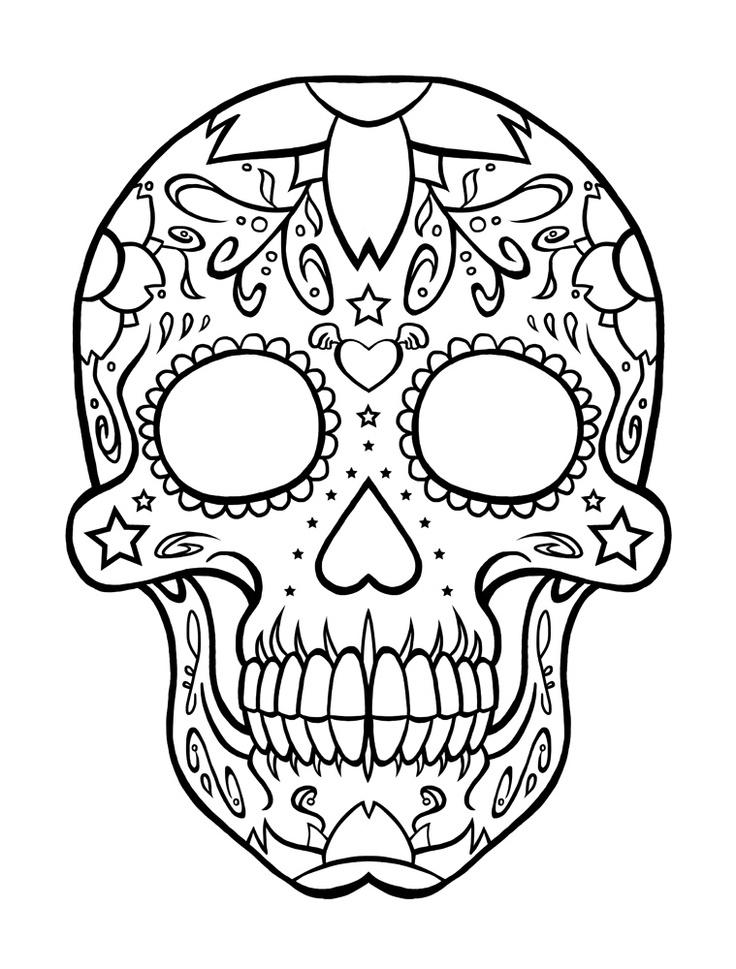 736x969 Tom The Cat Sugar Skull Coloring Page Sugar Skull Clip Art