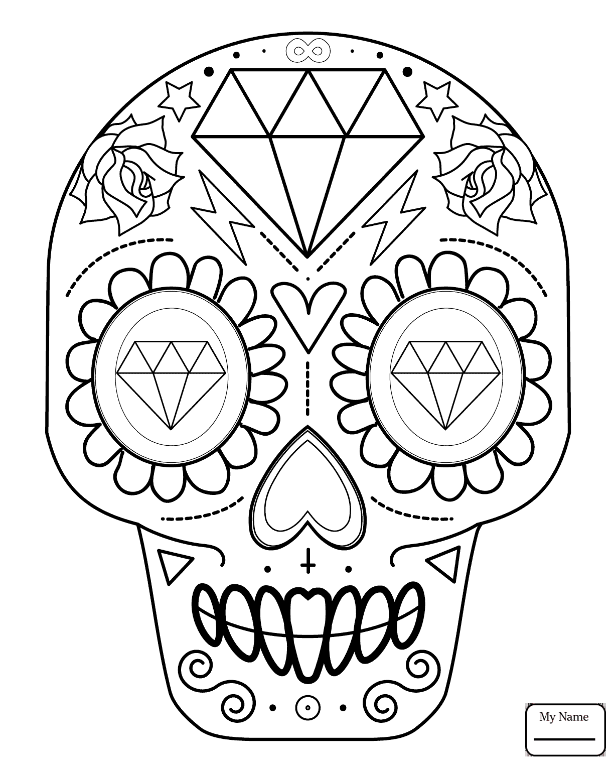 1228x1530 Day Of The Dead Day Of The Dead Skull Holidays Coloring Pages