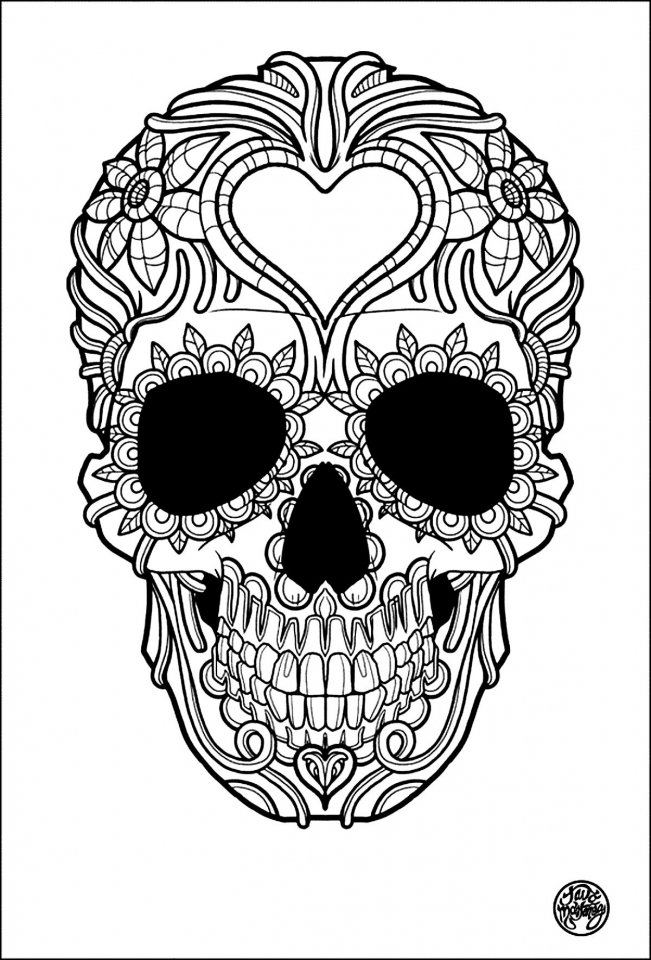 651x960 Day Of The Dead Skull Coloring Pages Printable Book Kids Free