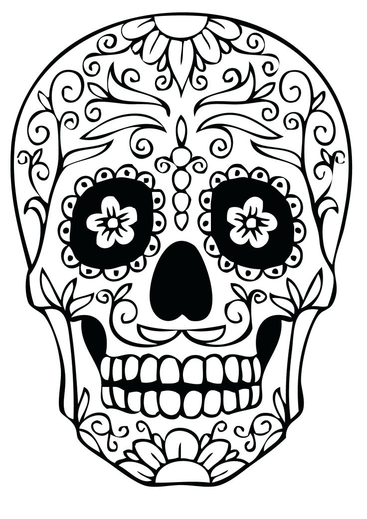 736x1041 Dia De Los Muertos Coloring Pages As Well As Background Coloring