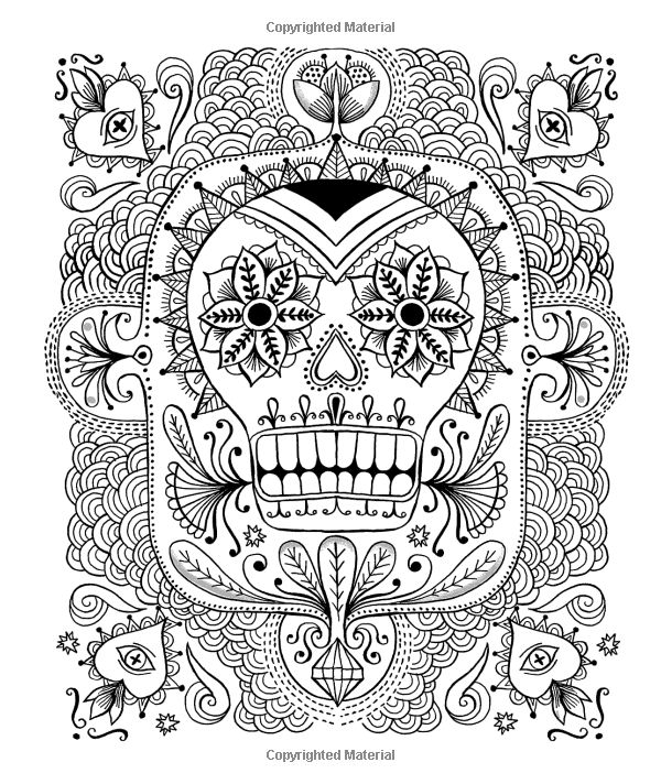 600x712 107 Best Day Of The Dead Coloring Images On Coloring
