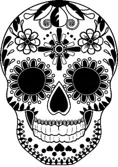 236x333 Nice Day Of The Dead Skull Drawn On Black Paper