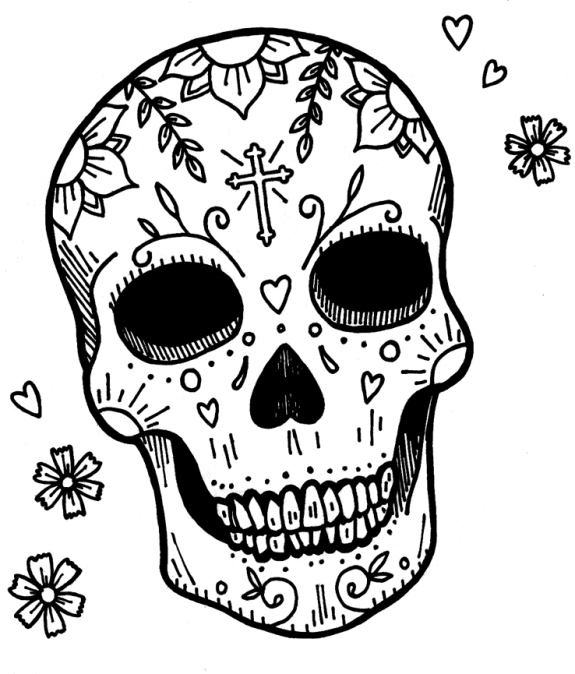 575x674 Day Dead Skulls Leave A Reply Cancel Reply Day Of The Dead