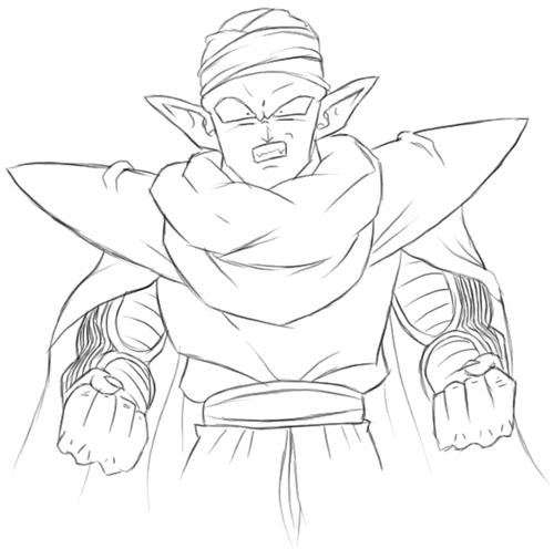500x496 How To Draw Piccolo From Dragon Ball Z With Easy Step By Step