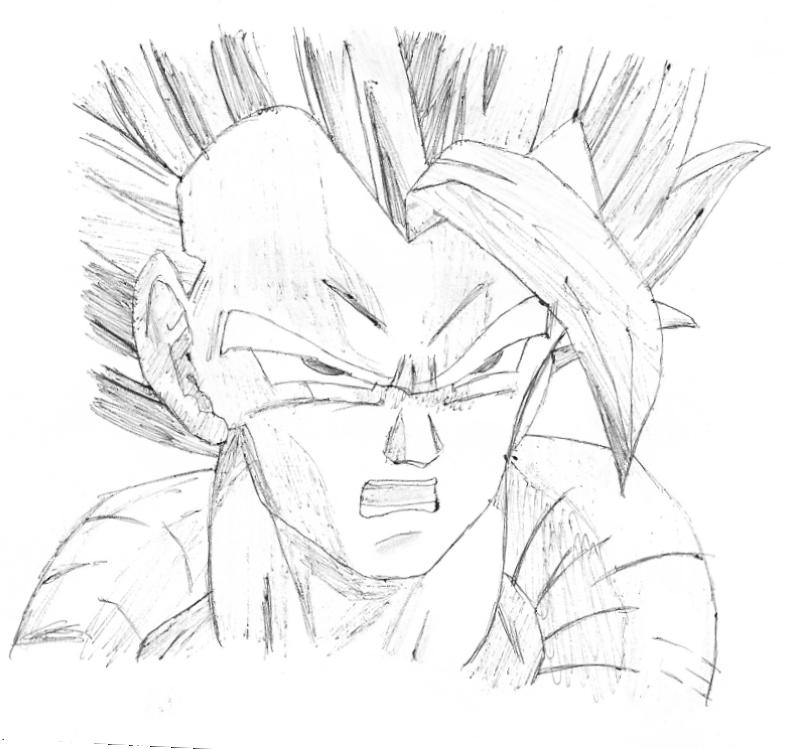 785x749 Dbz Drawing By Recast