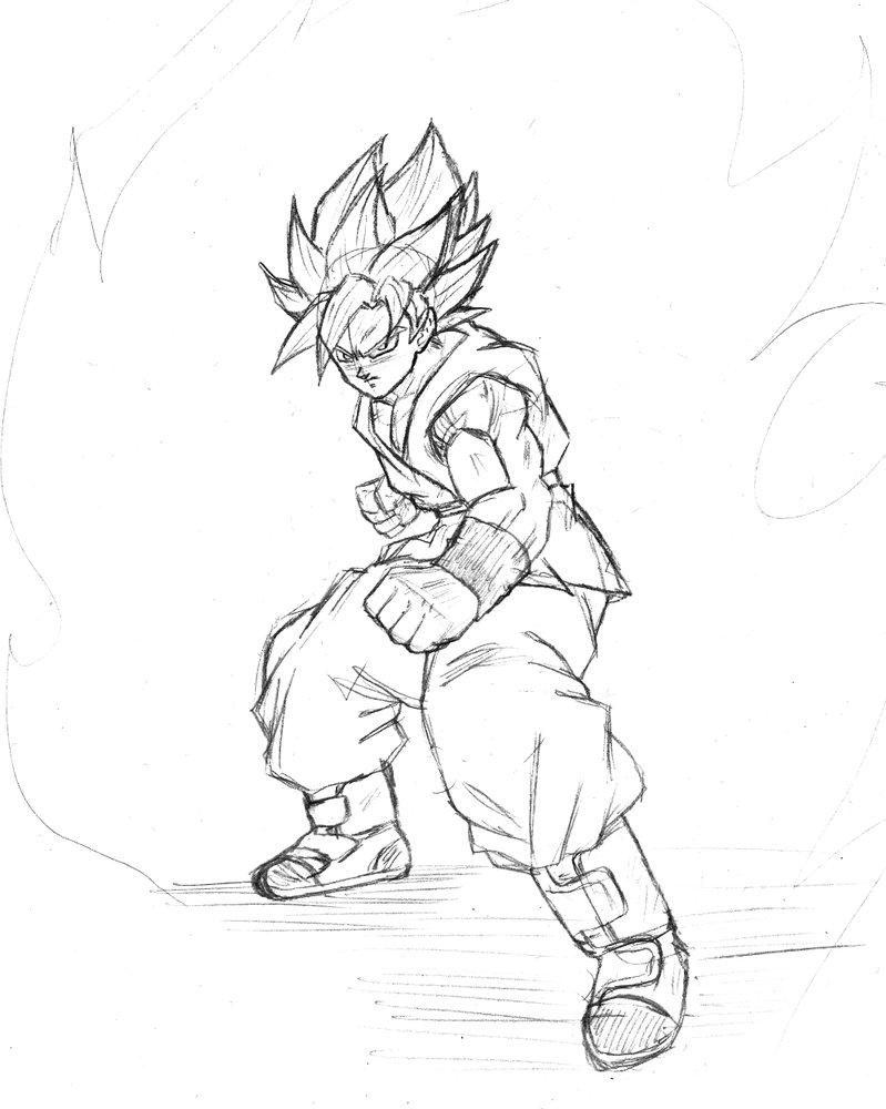 799x1000 Son Goku Super Saiyan God Super Saiyan Sketch By Bl Sama