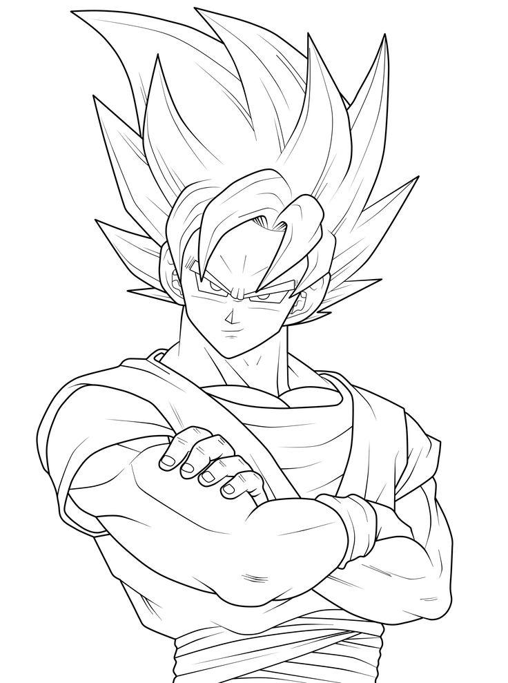 736x989 Print Goku Goku Coloring Pages Goku Coloring Pages (10