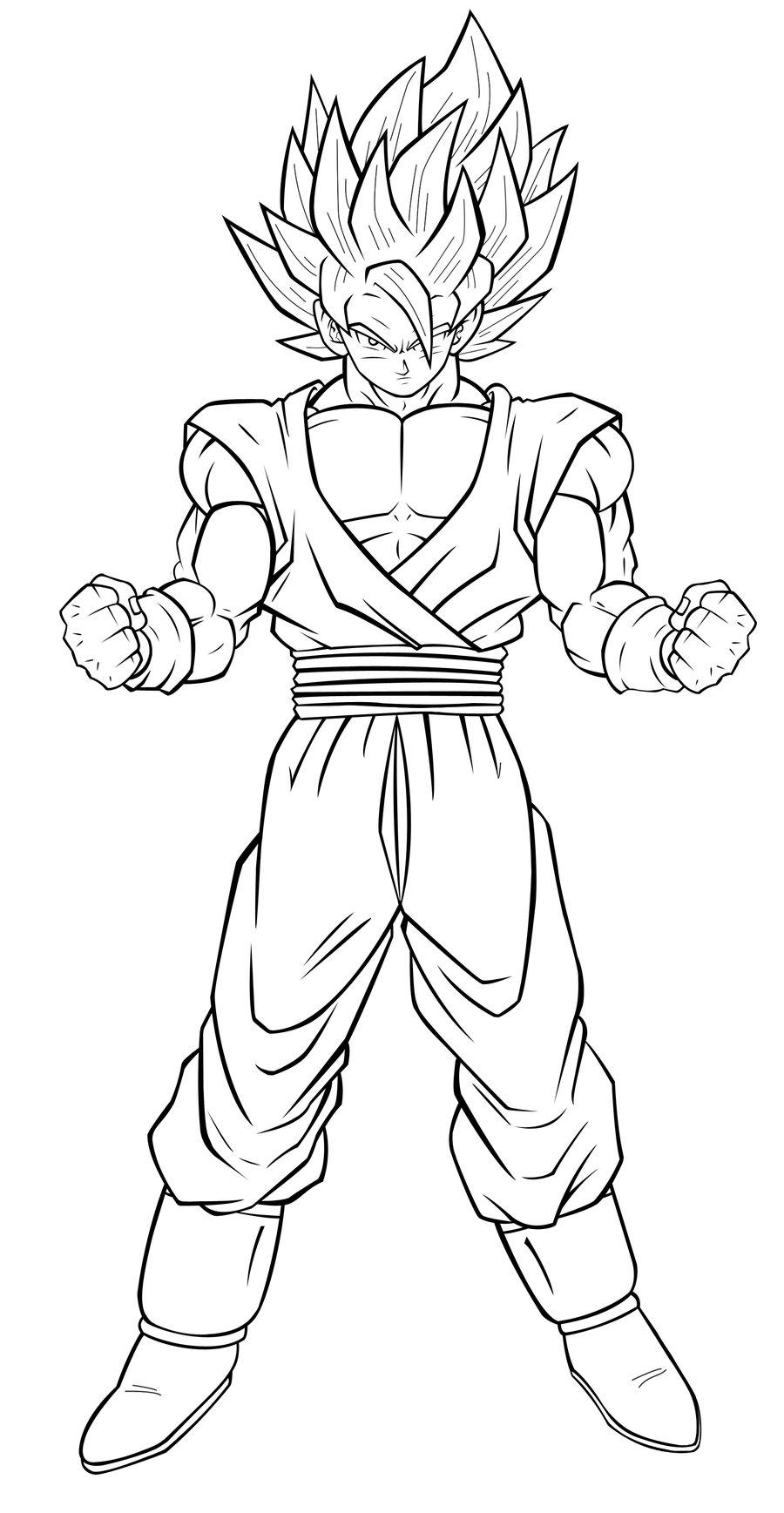 900x1737 Dragon Ball Z Coloring Pages Goku Super Saiyan From Goku Coloring
