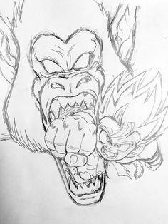 236x314 Black Goku. Drawn By Young Jijii. Found By