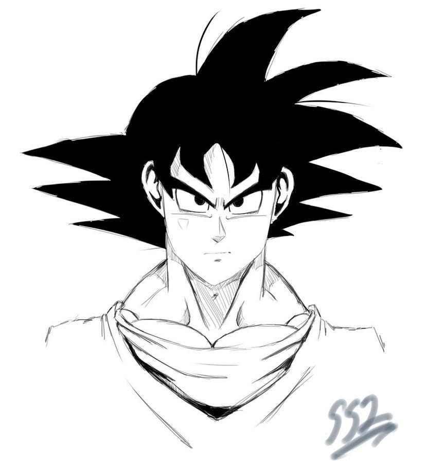 863x926 Dbz Goku By Ss2sonic