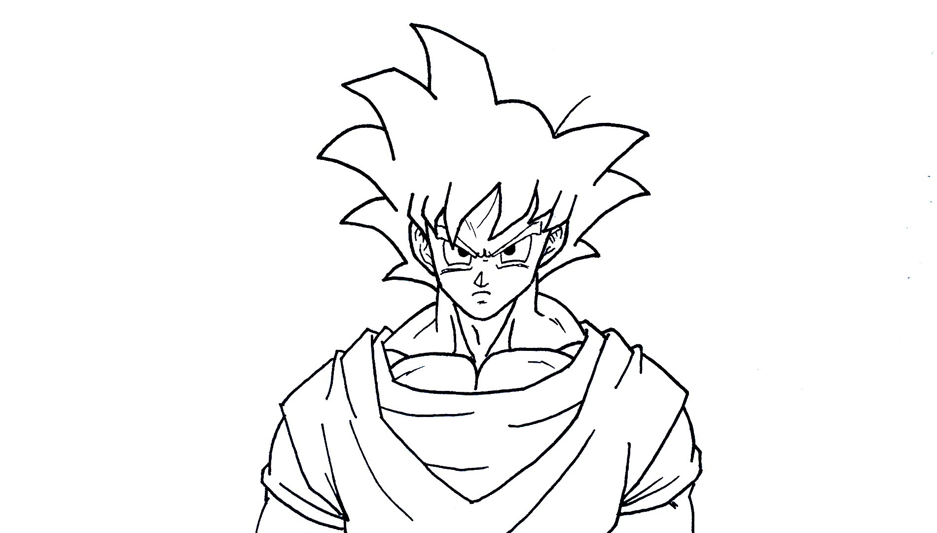 Dbz Goku Drawing at GetDrawings.com | Free for personal use Dbz Goku ...
