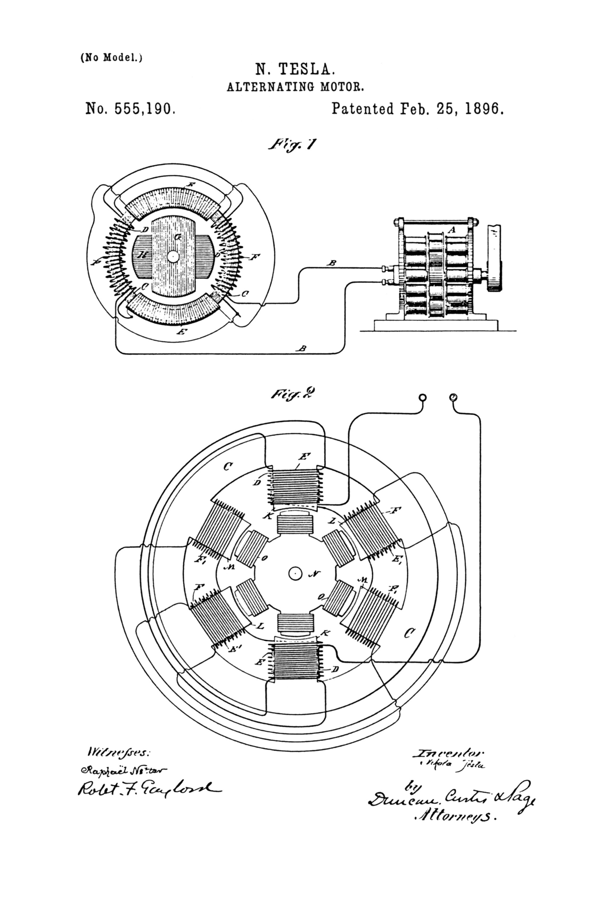 Dc Motor Drawing At Free For Personal Use Gt Control Circuits A Pwm Speed Circuit 2048x3174 Nikola Tesla Us Patent 555190