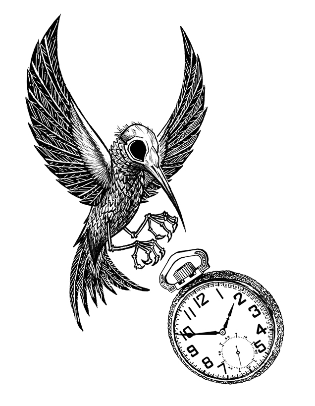 636x819 Dead Hummingbird Tattoo Design By Iadm