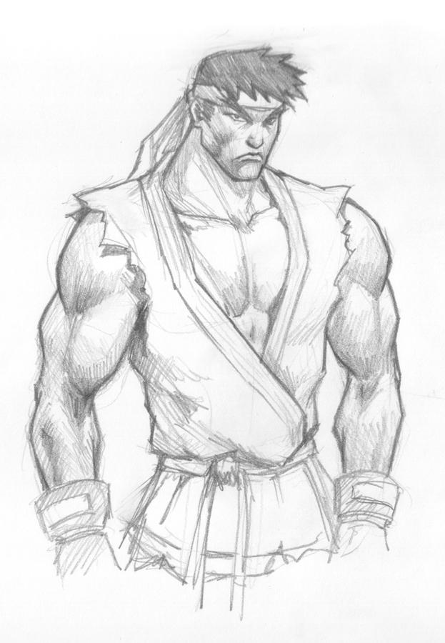 623x900 Drawing Ryu Tutorial. Art Street Fighter, Easy