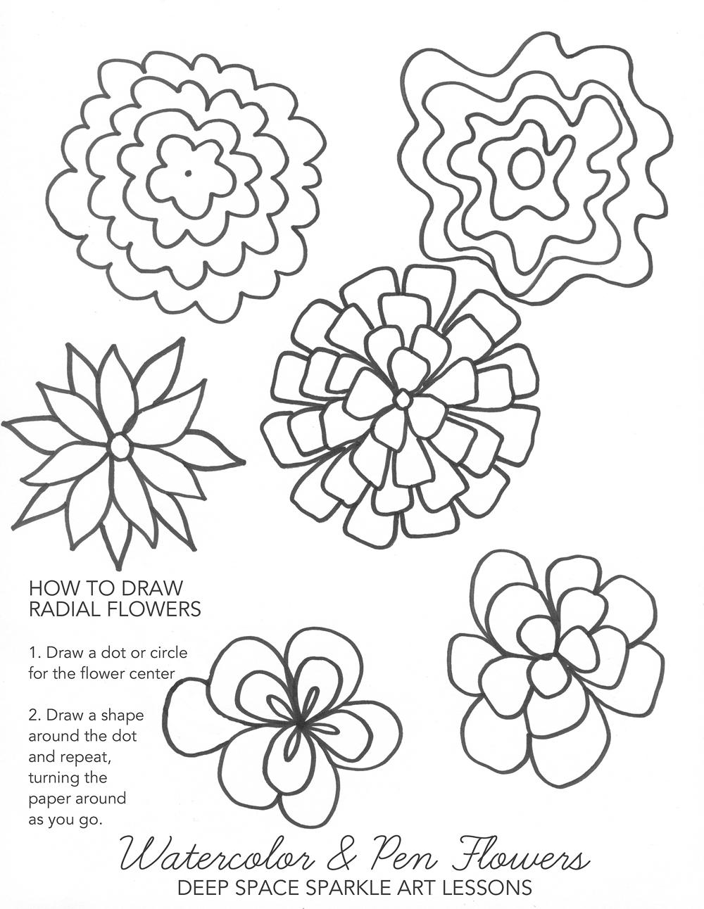 1000x1292 Radial Flower Idea Sheet Deep Space Sparkle Details