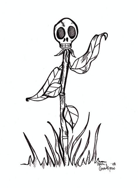 471x640 Dead Flowers Cartoon