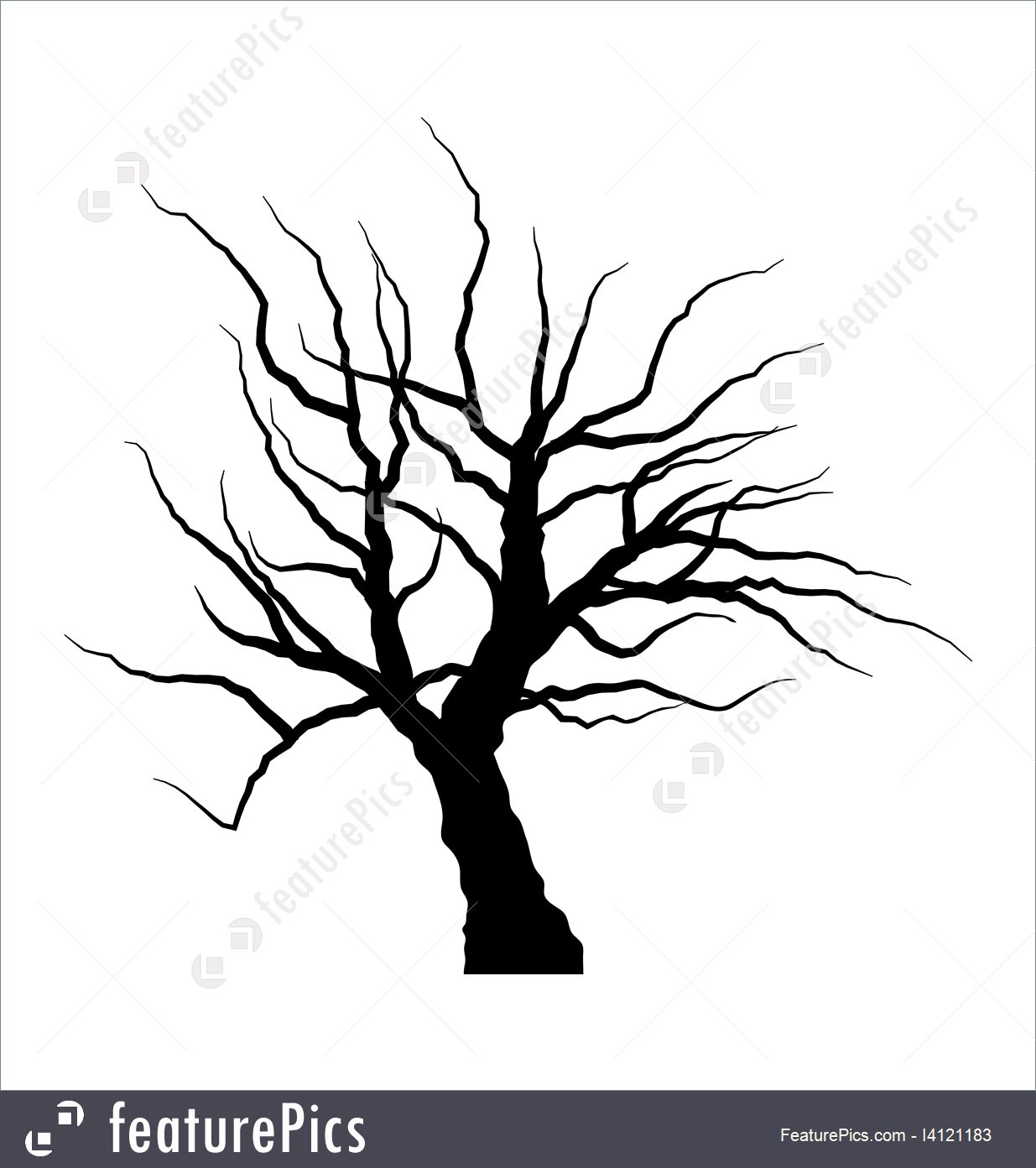 1235x1392 Illustration Of Dead Tree Without Leaves