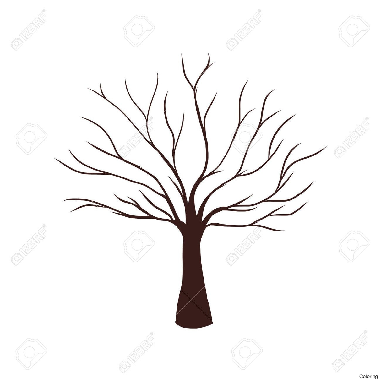 1300x1300 Dead Tree Drawing Trees Drawings Clipart Best How To Draw