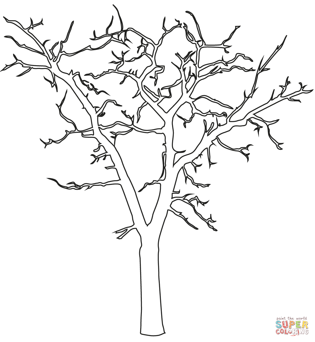 1106x1200 Dead Tree Outline Super Coloring Coloring Pages Or Pattern