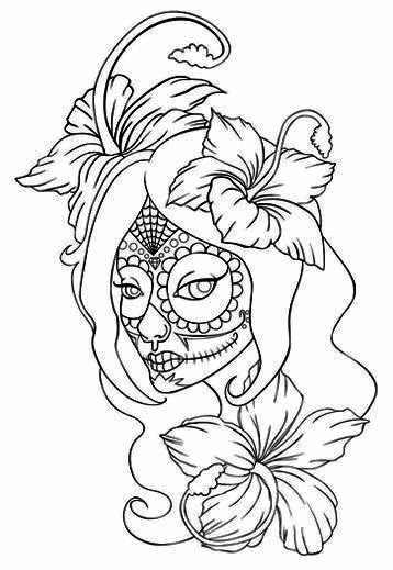 358x519 Girl Tattoo Ideas For You Day Of The Dead Girl Tattoo With Rose