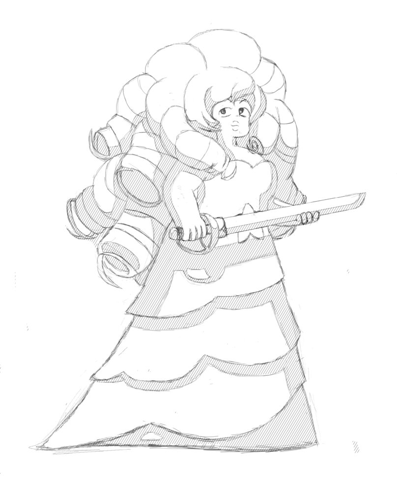 808x988 Rose Quartz Sketch By Thedeadhatter