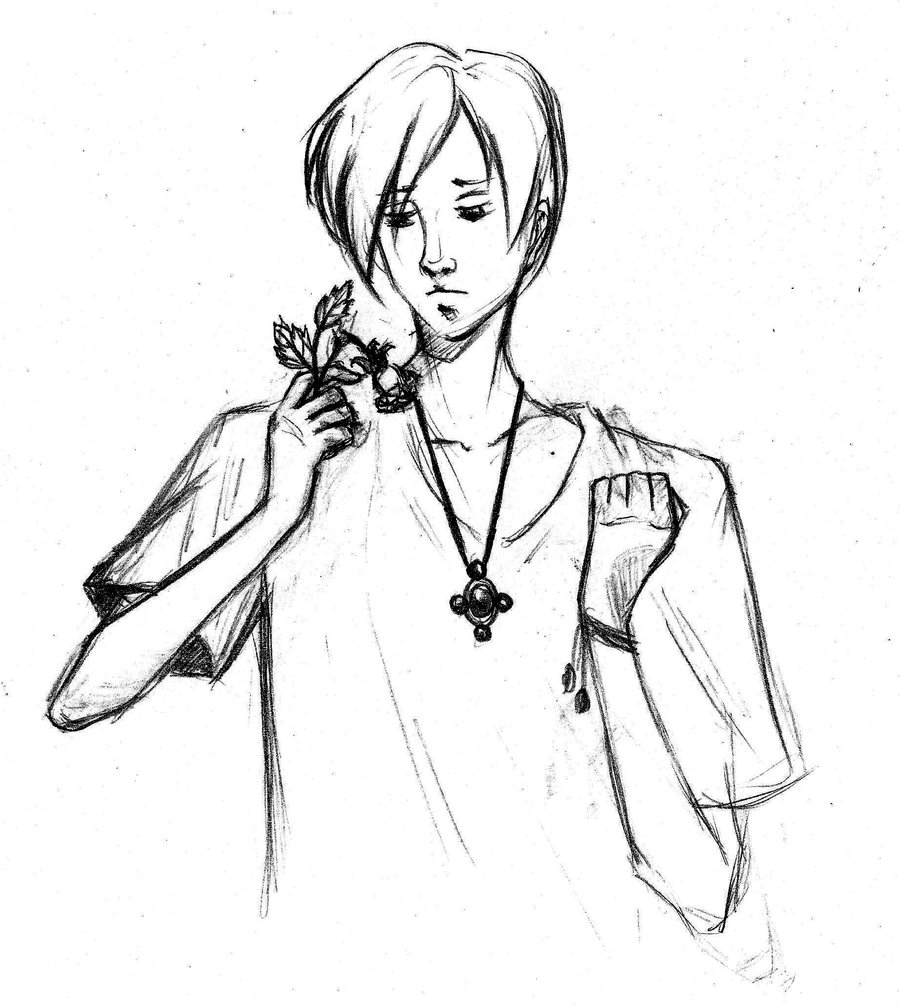 900x1006 The Boy Rose From The Dead, A Sketch By Radian The Art