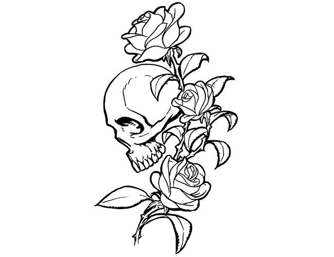 650x500 Tribal Skull Amp Rose Tattoo Tattoo Tabatha Henna Inspiration