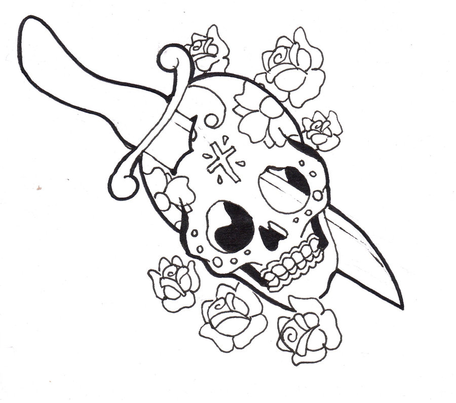 900x796 Day Of The Dead Dagger Lines By Benjirox